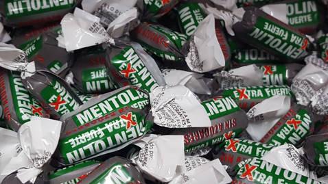Mentolin Xtrafuerte sin azúcar 100gr