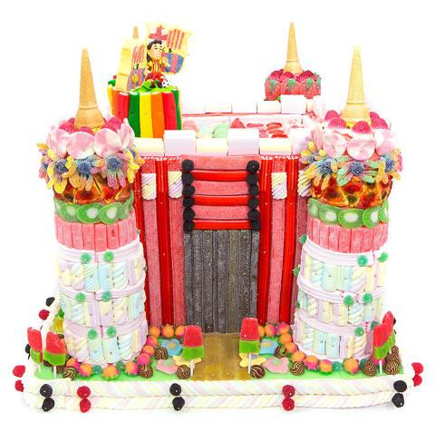 Pastís de llaminadures personalitzat (castell)