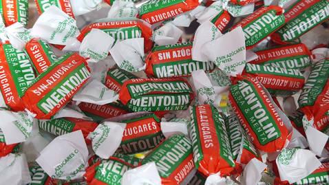 Mentolin fresa menta sin azúcar 100gr