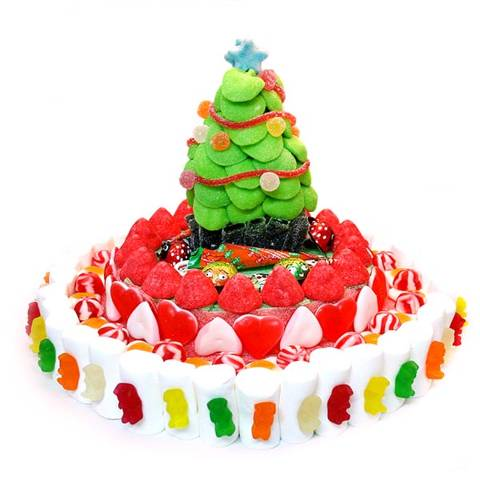 Pastel de Navidad de chuches